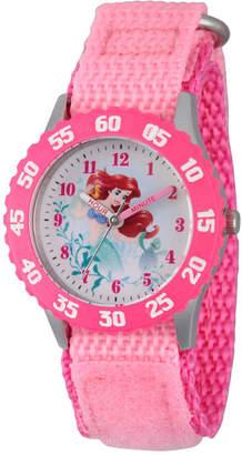 Disney Collection Ariel The Little Mermaid Girls Pink Strap Watch-Wds000201