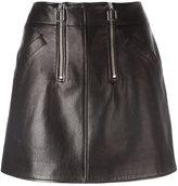 Courreges zipped detailing A-line skirt