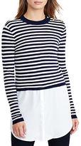 Lauren Ralph Lauren Petite Layered Wool Sweater