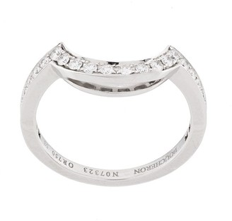 Boucheron 18kt White Gold Crescent Diamond Band Ring
