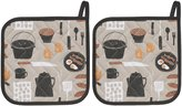 Now Designs Basic Potholders, Set of Two, Camp Cookout