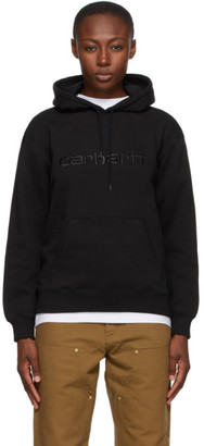 Carhartt Work In Progress Black Logo Hoodie