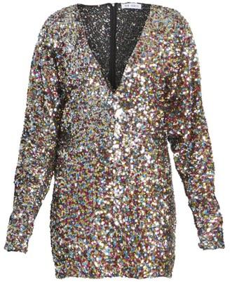 ATTICO Paillettes Mini Dress