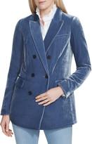 Lafayette 148 New York Slade Double-Breasted Velvet Jacket