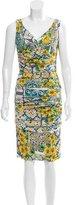 Dolce & Gabbana Sicilian Print Silk Dress