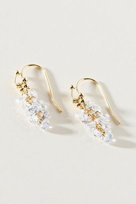 Anthropologie Crystal Cascade Drop Earrings By in Clear
