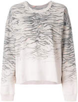AllSaints tiger stripe knit sweater