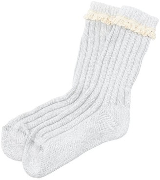 Indigo Everyday Sock - Lace Trim - Grey