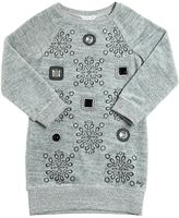 Little Marc Jacobs Embellished Cotton Chenille Dress
