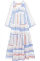 Stella McCartney Tiered striped cotton-blend maxi dress