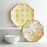 Pier 1 Imports Chinoiserie Lattice Yellow Melamine Dinnerware