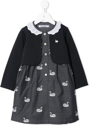 Familiar Layered Swan Dress
