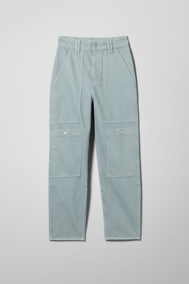 Weekday Cleo Lofty Blue Denim Trousers - Blue