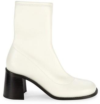 Simon Miller Mojo Square-Toe Leather Sock Boots