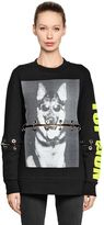 Filles a papa Dog Printed Cotton Sweatshirt W/ Rings