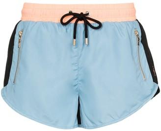 P.E Nation Double Drive colour-block shorts