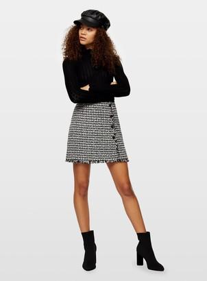 Miss Selfridge PETITE Black Pointelle Knitted Jumper