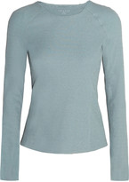 Theory Theory+ Foxie ribbed stretch-jersey top
