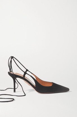 Aquazzura Ambra 75 Suede Pumps
