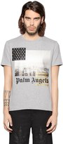 Palm Angels Los Angeles Print Cotton Jersey T-Shirt