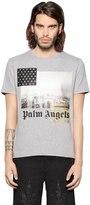 Palm Angels Los Angeles Print Cotton Jersey T-Shirt