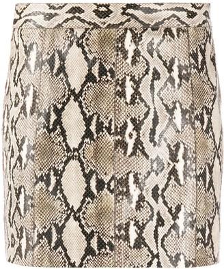 Givenchy Snake-Effect Mini Skirt