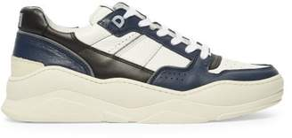 Ami Basket Leather Low Top Trainers - Mens - Navy White