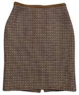 Ellen Tracy Gold Tweed Skirt