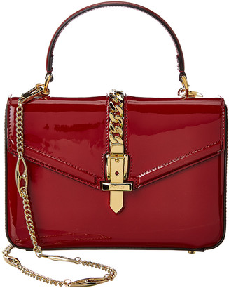 Gucci Sylvie 1969 Mini Patent Top-Handle Shoulder Bag