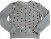 Au Jour Le Jour Cotton Sweatshirt W/ Pompoms