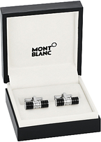Montblanc Stainless Steel And Resin Bar Cufflinks, Silver/black