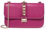 Valentino Lock Medium Leather Shoulder Bag - Pink