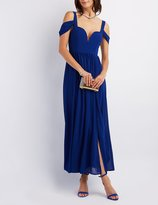 Charlotte Russe Cold Shoulder Sweetheart Maxi Dress