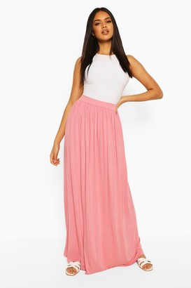boohoo Basic Floor Sweeping Jersey Maxi Skirt