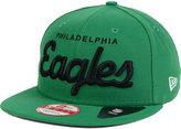 New Era Philadelphia Eagles LIDS 20th Anniversary Script 9FIFTY Snapback Cap