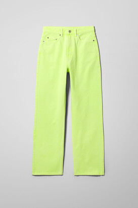 Weekday Rowe Extra High Straight Jeans - Green