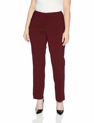 Briggs New York Women's Plus Size Split Waist Pant