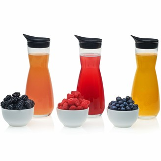 Libbey Make Your Own Mimosa Bar Set with 3 Carafes with Lids and 3 Garnish Bowls