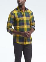 Banana Republic Camden-Fit Custom-Wash Check Shirt