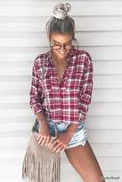 Forever 21 High-Low Flannel Shirt