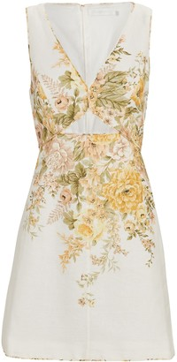 Zimmermann Amelie Cut-Out Mini Dress