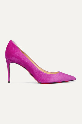 Christian Louboutin Kate 85 Suede Pumps - Violet