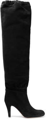 Chloé Lena Gathered Suede Over-the-knee Boots
