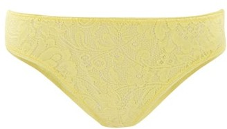 Araks Tris Floral-lace Briefs - Yellow