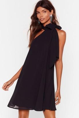 Nasty Gal Womens All the Reasons Tie Chiffon Mini Dress - Black