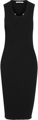 Helmut Lang Twist-back Ribbed Jersey Dress