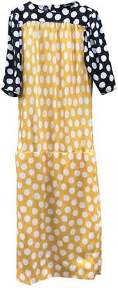 Ungaro Yellow Silk Dress for Women