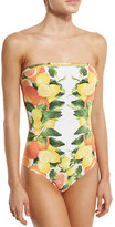 Stella McCartney Iconic Printed Bandeau One-Piece Swimsuit