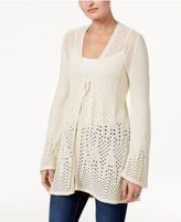 Style&Co. Style & Co Open-Knit Tie-Front Cardigan, Only at Macy's