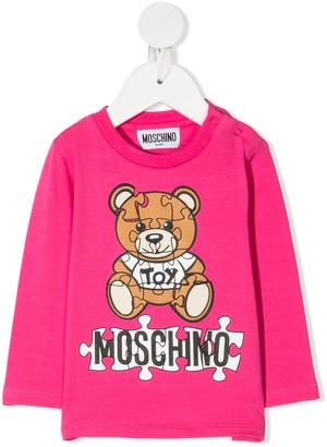 MOSCHINO BAMBINO Logo Teddy Bear Top
